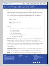 Internal Pressure Design Calculator